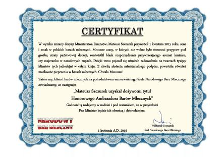 Certyfikat pod ramkę-1